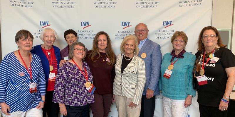 Photo of LWVNCSD delegation to the 2019 State Convention