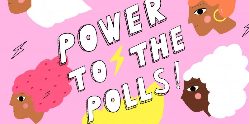 Power to the Polls Poster by Carolyn Suzuki free for public use