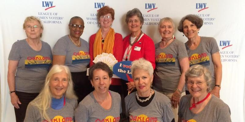 Group Photo of LWVO Board with LWV and LWVC Leaders