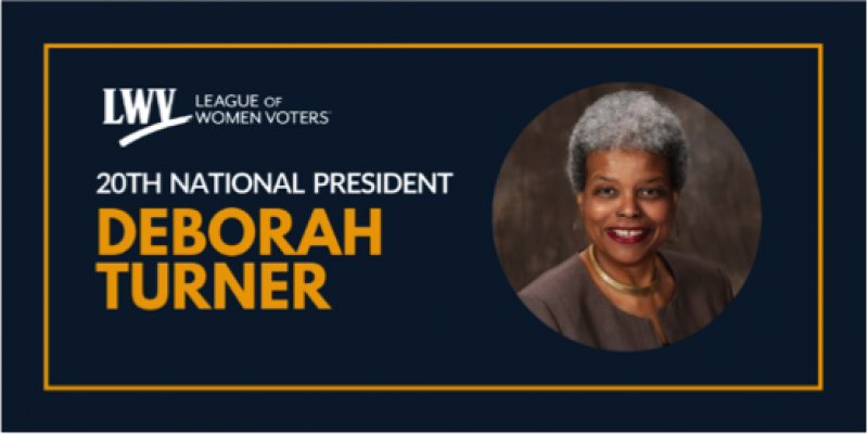 LWV President Deborah Turner