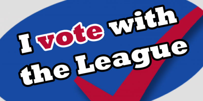 Vote with the League Clipart