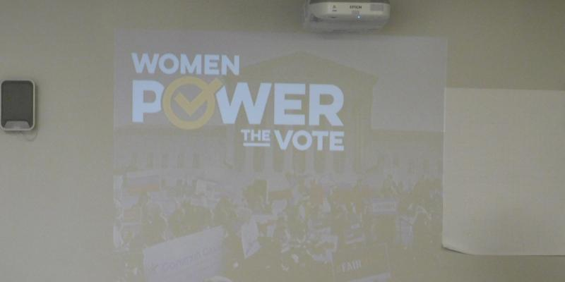 Photo of Women Power the Vote Slide