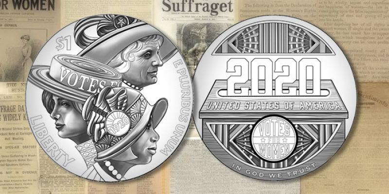 2020 Women's Suffrage Centennial Silver Dollar