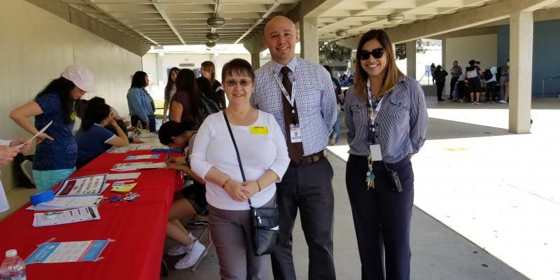 LWV Pasadena Area members registering young voters