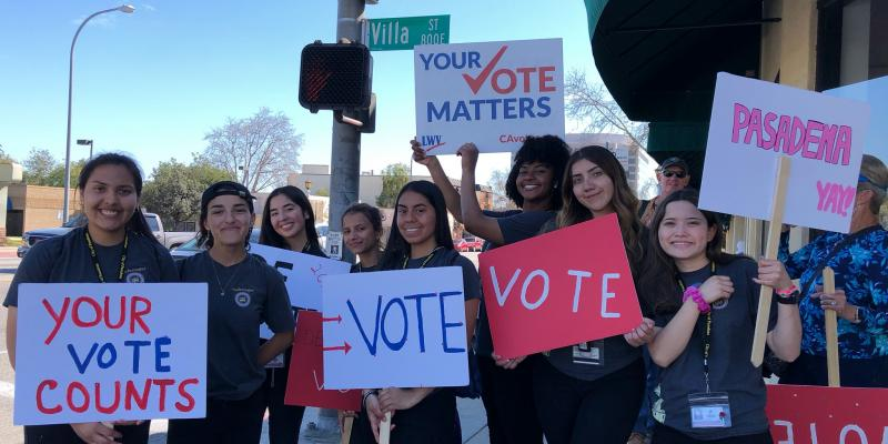 Pasadena Area Youth Getting Out the Vote