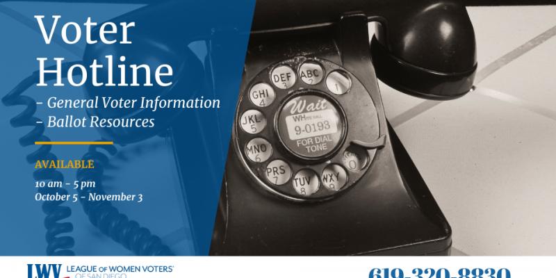 voter hotline: 619-320-8830
