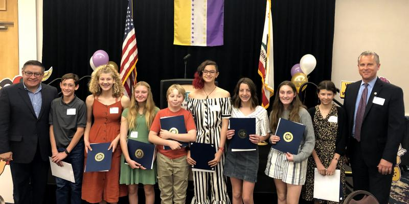 "All ""Power of the Vote"" Essay Winners at the LWV Centennial Celebration"