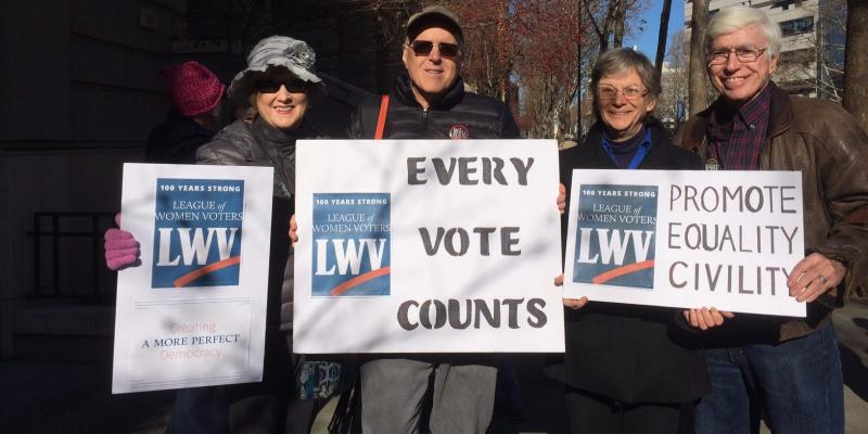 LWV Members at Women's March 2018