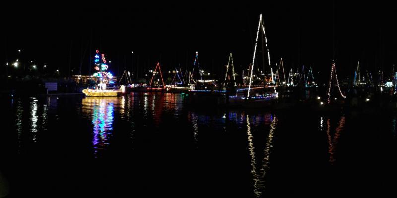 Santa Cruz Harbor Lighted Boat Parade 2018