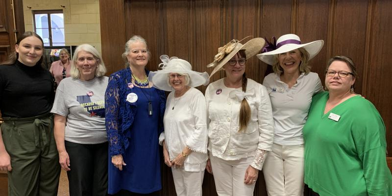 S.M. City Council appearance of Suffrage Centennial Collaboration
