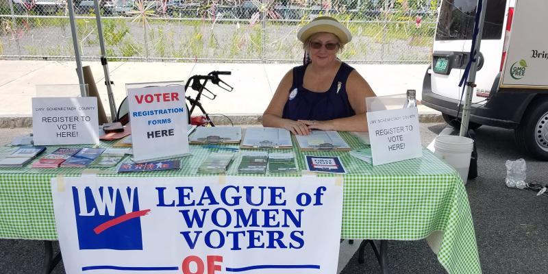 Registering voters in New York