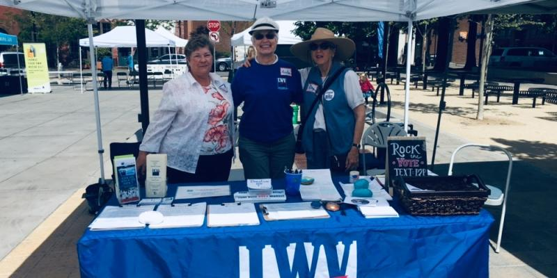LWV Sonoma County members tabling at Earth Day 2019