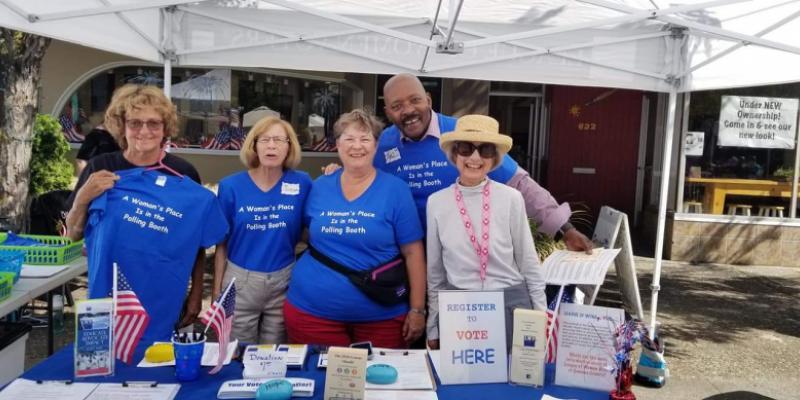 LWV Sonoma County Members Sporting LWV Centennial Tee Shirts
