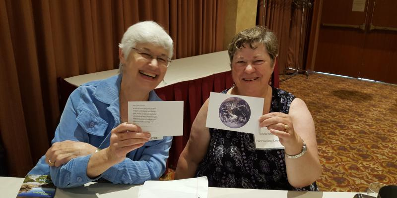 LWV Sonoma County Members Tabling to Support a Green Sonoma County