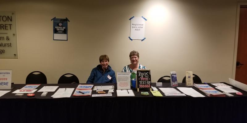LWV Sonoma County Members Tabling at Voter Registration Event & LBC