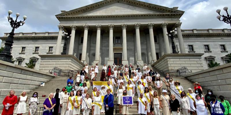 Rally at Statehouse to celebrate 19th Amendment anniversary