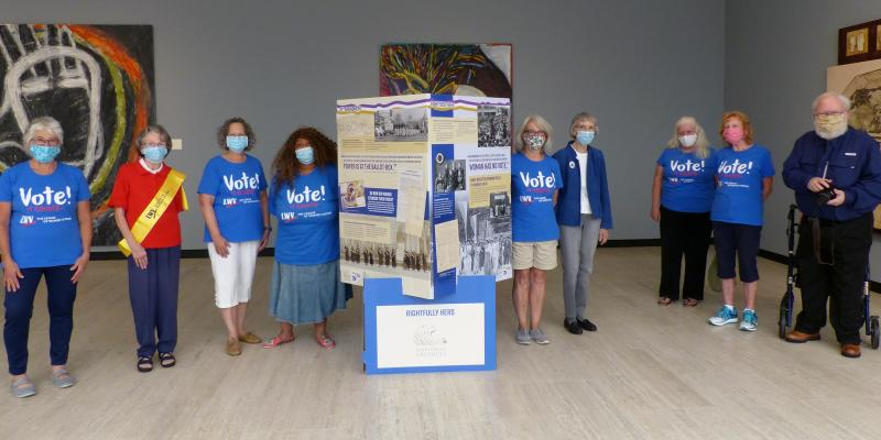 Visiting the Women's Suffrage exhibit at MWPAI