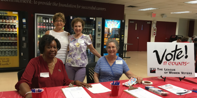 LWVWP NVRD volunteers at College of Westchester