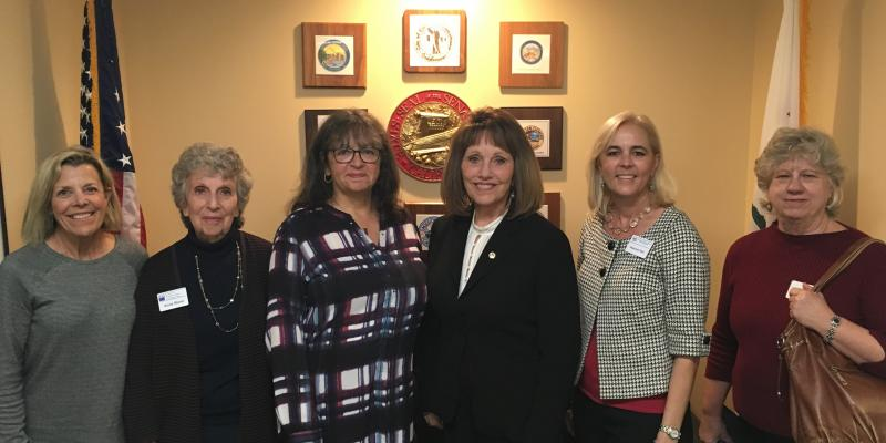 Senator Pat Bates with Five League Members