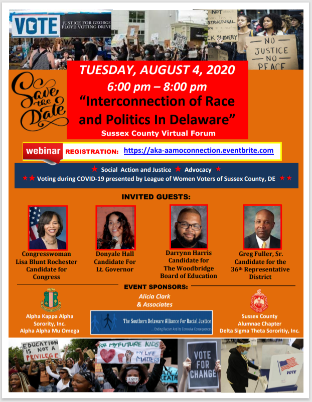 Interconnection of Race & Politics in Delaware virtual event 8/4/20