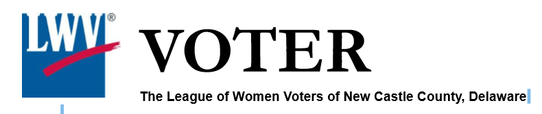 LWV of New Castle County the Voter newsletter logo
