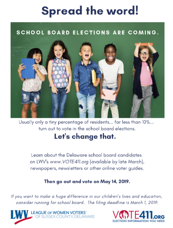 School Board Elections are coming, get out and vote 5/14