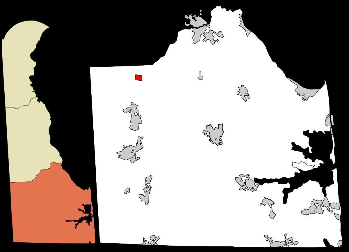 map of Sussex County, DE