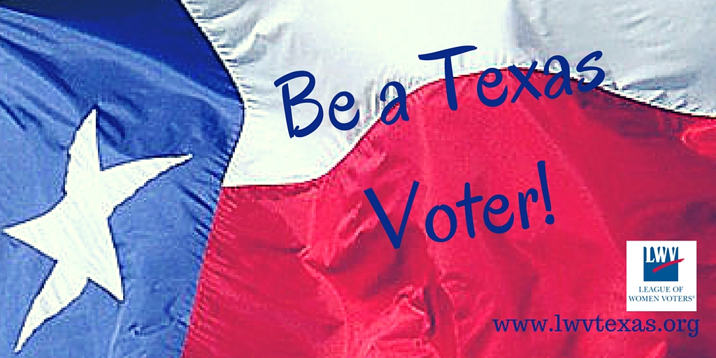 Texas glag with Be a Texas Voter