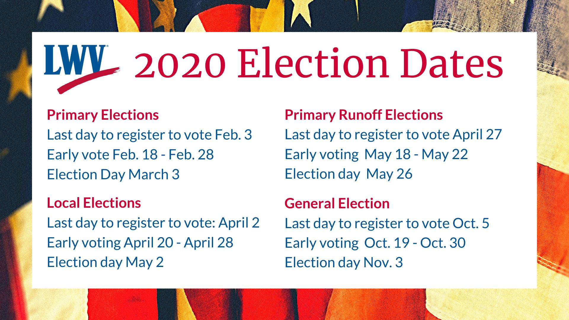 Texas Election Dates