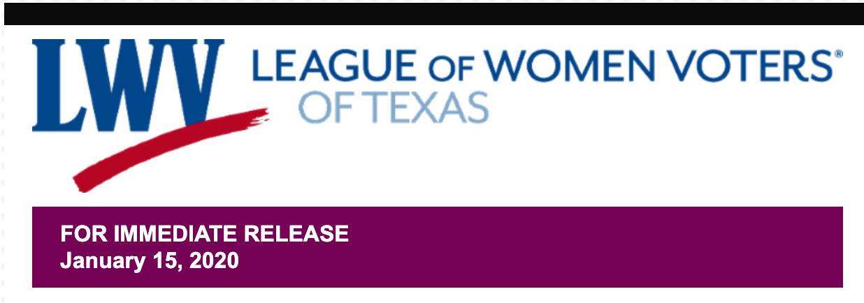 LWV Texas logo with date