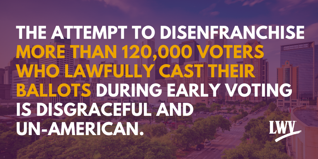 The attempt to disenfranchise more than 120,000 voters is..