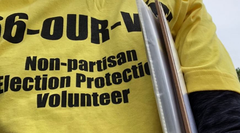 """Election Protection tshirt """"866 OURVOTE"""""""