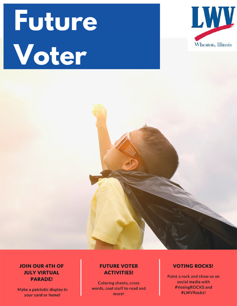 Front Page of Future Voter Activity Book