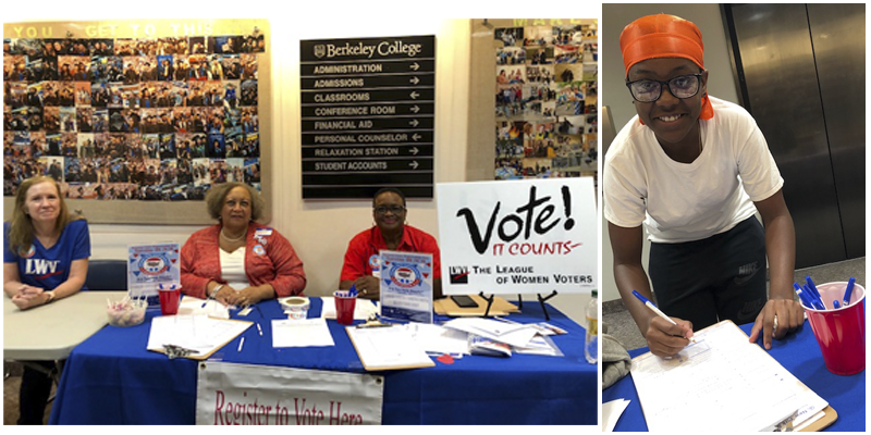 LWVWP Registers Voters at Berkeley College during NVRD