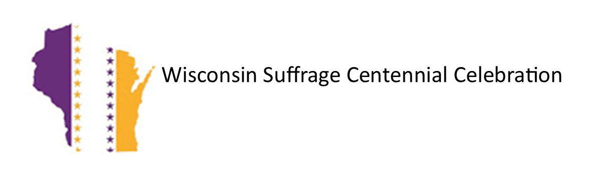 Logo for the Wisconsin Suffrage Centennial Celebration website.